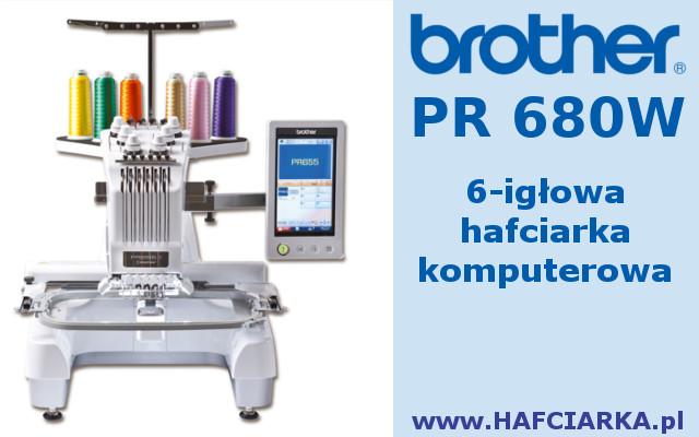 BROTHER PR670 - 6-igłowa maszyna hafciarska